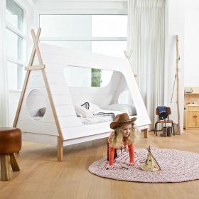 Wood Tipi Cabin Bed