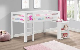 Julian Bowen Wendy Midsleeper Bed with Pull Out Desk in Surf White