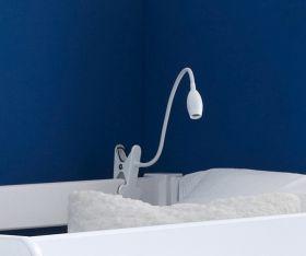 White Clip-On Bunky Light - Childs Bed Light