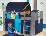 Steens For Kids Midsleeper in Cool Grey with Blue Accessories