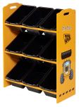 Kidsaw JCB 9 Bin Storage Unit