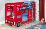 Julian Bowen London Bus Bunk Bed + 2 x Premier Mattresses