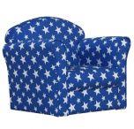 Kidsaw Mini Armchair - Blue/White Stars
