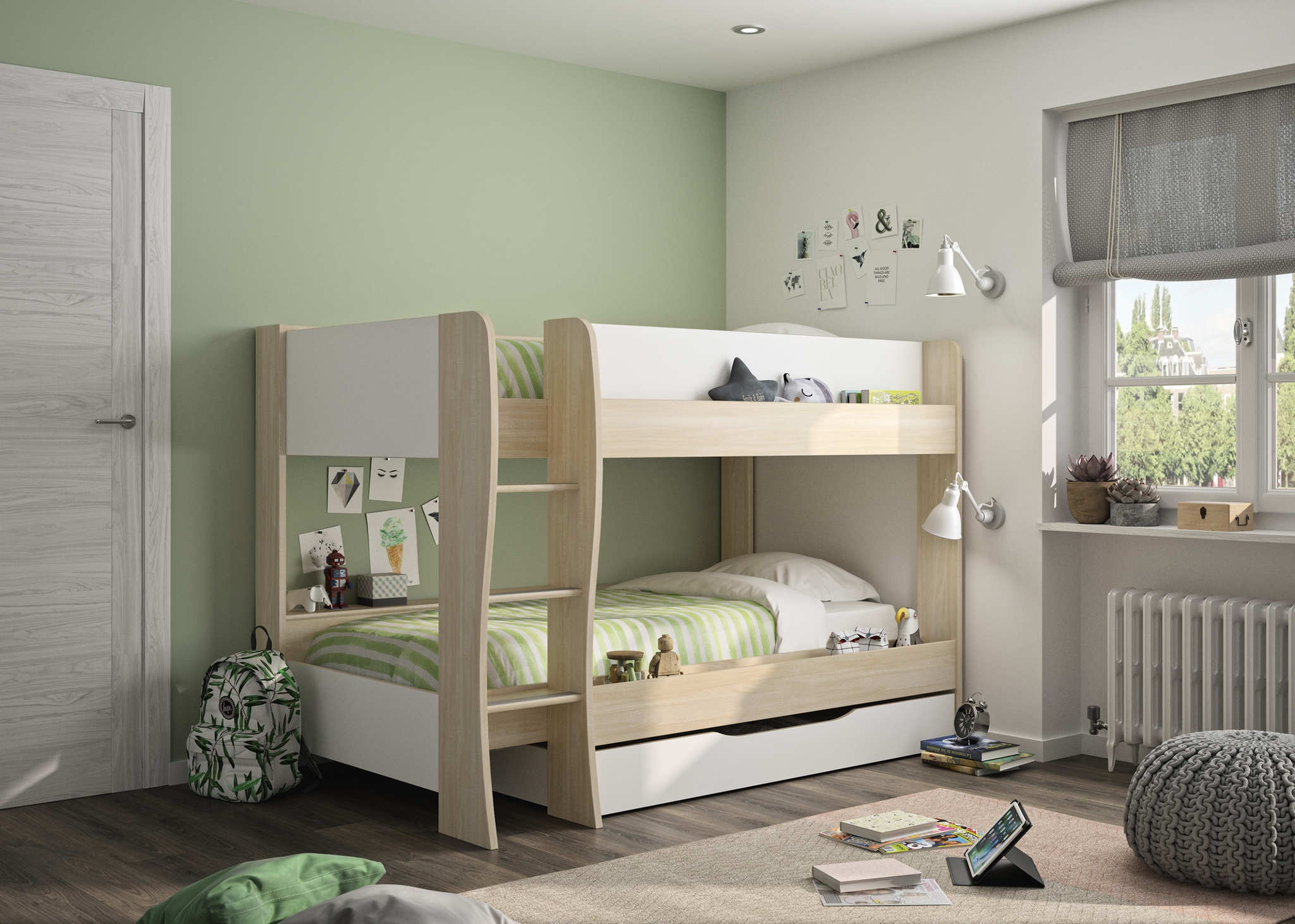 Picture of: Gami Roomy Bunk Bed With Storage Drawer Children S Bed Shop