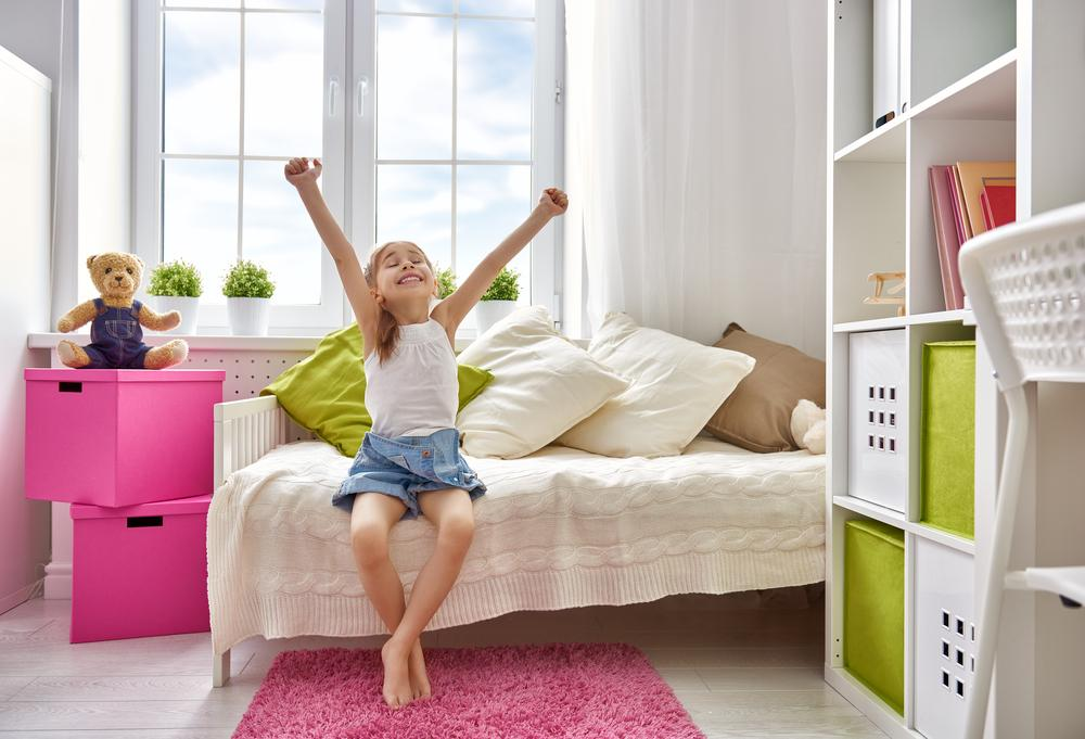 A bed with underbed storage: getting children to make their bed and tidy their room